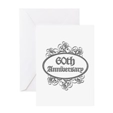 60th Wedding Aniversary (Engraved) Greeting Card