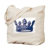 Medieval Blue Crown Tote Bag