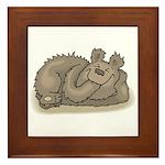 Silly Little Sleeping Bear Framed Tile