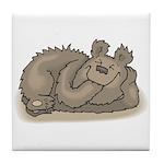 Silly Little Sleeping Bear Tile Coaster