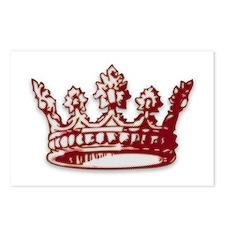 Medieval Red Crown Postcards (Package of 8)