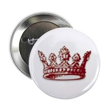 "Medieval Red Crown 2.25"" Button (100 pack)"