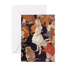 Alice in Wonderland 1923 illustratio Greeting Card