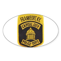 Frankfort Police Oval Sticker