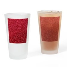 Red faux glitter Drinking Glass