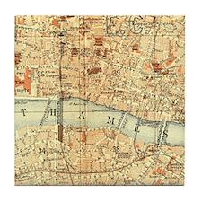 Vintage map of London Tile Coaster