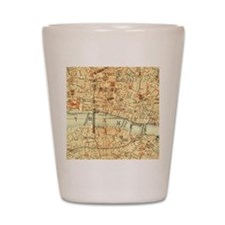 Vintage map of London Shot Glass