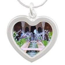 Alhambra water fountain Silver Heart Necklace