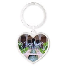 Alhambra water fountain Heart Keychain