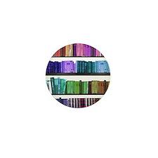 Rainbow bookshelf Mini Button