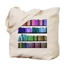 Rainbow bookshelf Tote Bag