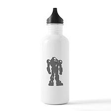 Grey Robot Water Bottle