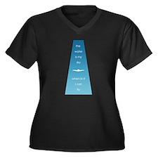 Water is My Sky Women's Plus Size V-Neck Dark T-Sh