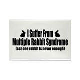 Multiple Rabbit Syndrome Rectangle Magnet (100 pac