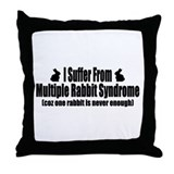 Multiple Rabbit Syndrome Throw Pillow