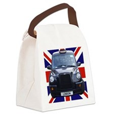 British black cab Canvas Lunch Bag