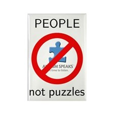 PEOPLE not puzzles Rectangle Magnet (10 pack)