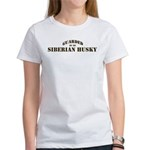 Siberian Husky: Guarded by Women's T-Shirt