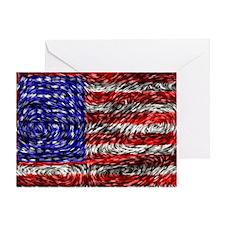 Van Gogh's Flag of the US Greeting Card