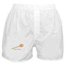 Spoon. Wooden. Boxer Shorts