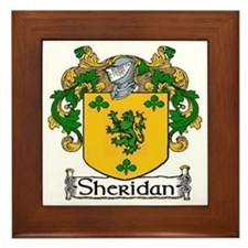 Sheridan Coat of Arms Framed Tile