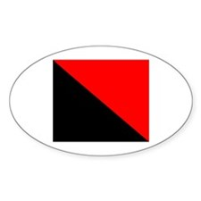 Anarchist Flag Oval Decal