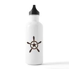 Vintage Ship Wheel Water Bottle