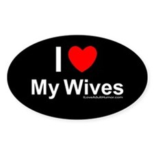 My Wives Oval Decal