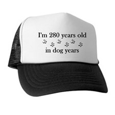 40 birthday dog years 4-2 Trucker Hat