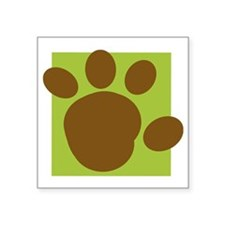 "brown paw print Square Sticker 3"" x 3"""