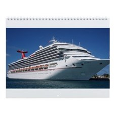 Cute Caribbean cruise Wall Calendar
