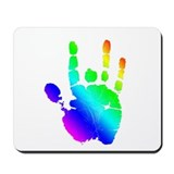 Rainbow Handprint Mousepad