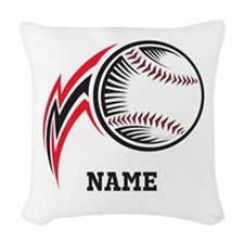Personalized Baseball Pitch Woven Throw Pillow