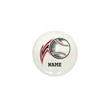 Personalized Baseball Pitch Mini Button (10 pack)