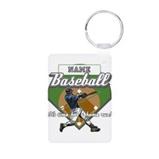 Personalized Home Run Time Keychains