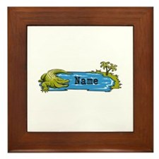Personalized Alligator Framed Tile