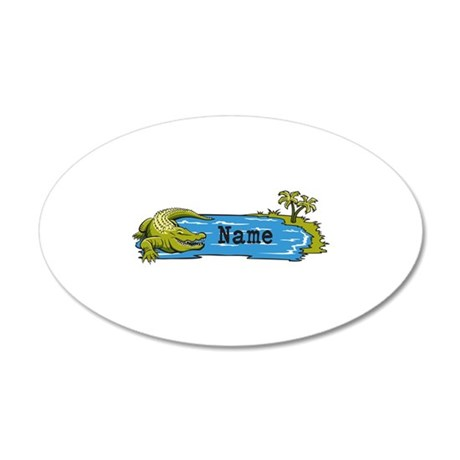 Personalized Alligator 20x12 Oval Wall Decal