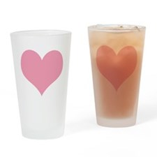 Pale Pink Heart Drinking Glass