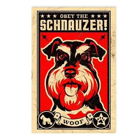 Obey the Schnauzer! Postcards (8 Pack)