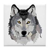 Wolf's Head Decorative Tile