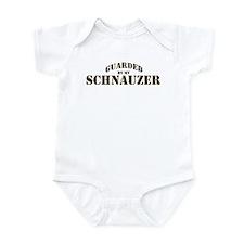 Schnauzer: Guarded by Infant Bodysuit