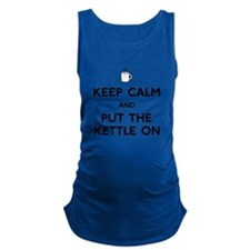 FIN-keep-calm-kettle-on.png Maternity Tank Top