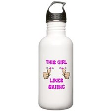 This Girl Likes Skiing Water Bottle
