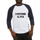 Awesome Alysa Baseball Jersey
