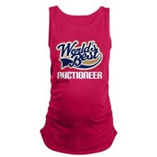 Worlds Best Auctioneer Maternity Tank Top