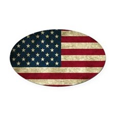 American Flag Oval Car Magnet