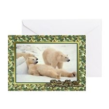 Polar Bear Christmas Card Greeting Cards (Pk of 20
