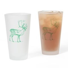Green Caribou Drinking Glass