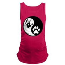 Human & Dog Yin Yang Maternity Tank Top