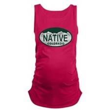 Native Colo License Plate Maternity Tank Top
